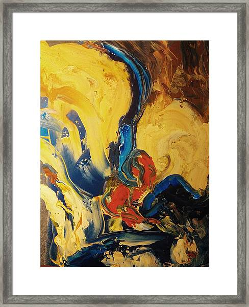 Framed Print featuring the painting Harvey by Ray Khalife
