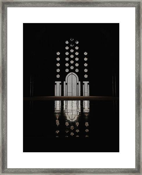 Framed Print featuring the photograph Hassan II Mosque by Huilin Dai