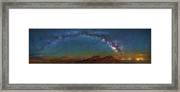 Hat Rock Milky Way Framed Print