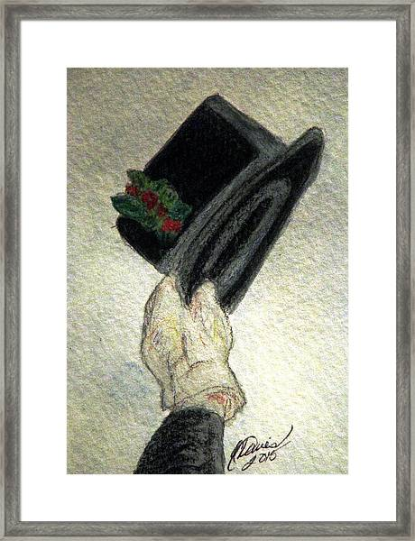 Hats Off To The Holidays Framed Print
