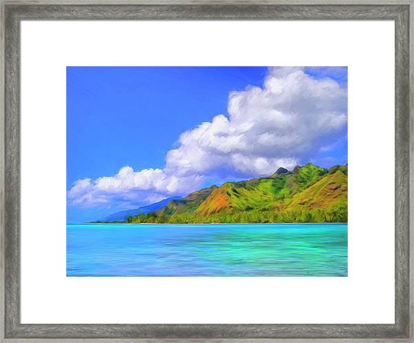 Hauru Point Moorea Framed Print