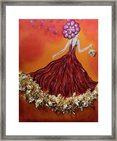 Haute Couture Sunset Framed Print by Samantha Kulchar
