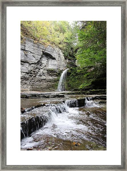 Eagle Cliff Falls II Framed Print