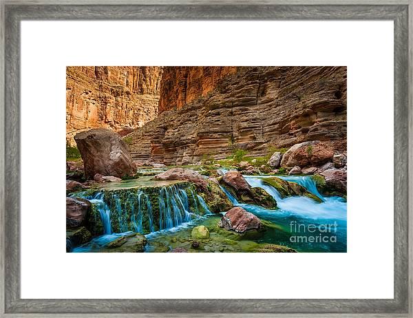 Havasu Creek Cascade Framed Print