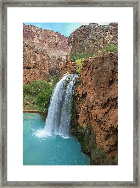 Havasu Falls Grand Canyon Framed Print