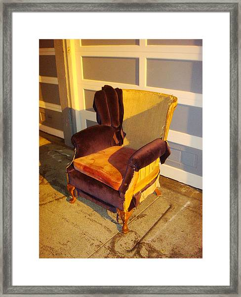 Framed Print featuring the photograph Have A Seat In Dore Alley by Mr Photojimsf