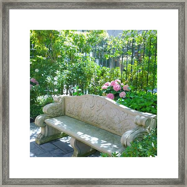 Have A Seat In My Secret Garden. #patio Framed Print