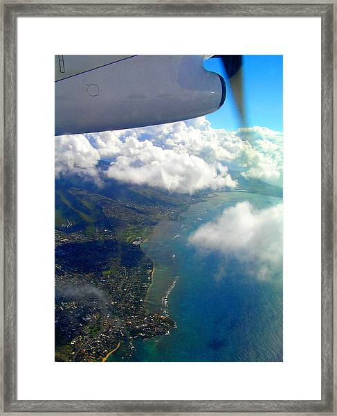 Hawaii Aerial View Framed Print