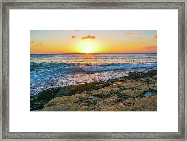 Hawaii Sunset Framed Print