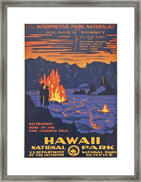 Hawaii Vintage Travel Poster Framed Print