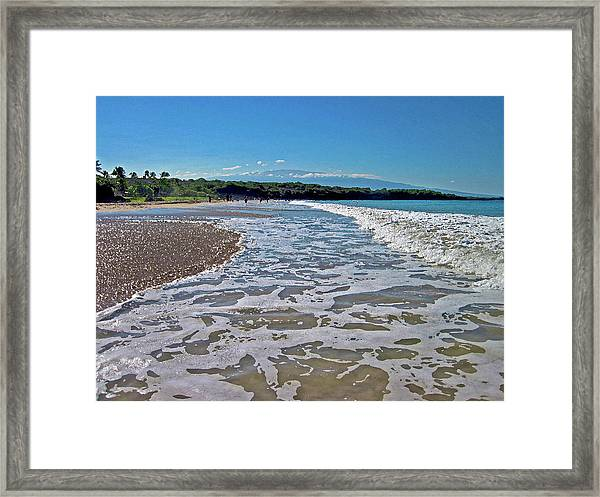 Hawaiian Landscape Of Hapuna Beach Framed Print