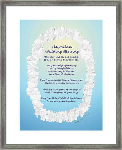 Hawaiian Wedding Blessing Framed Print