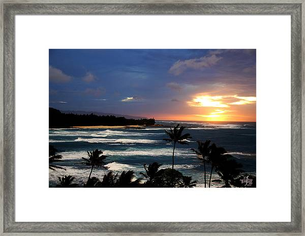 Hawaiin Sunset Framed Print by Thea Wolff