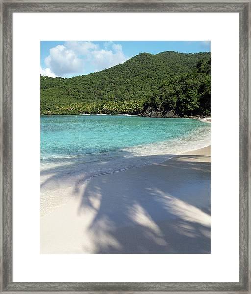 Hawksnest Bay And Gibney Beach Framed Print