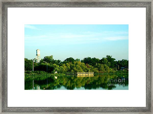Hawthorne With Water Tower Framed Print