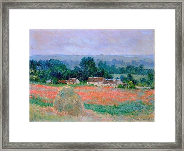Haystack At Giverny 1886 Framed Print