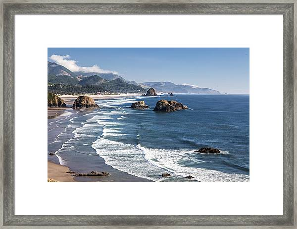 Haystack In The Distance II Framed Print