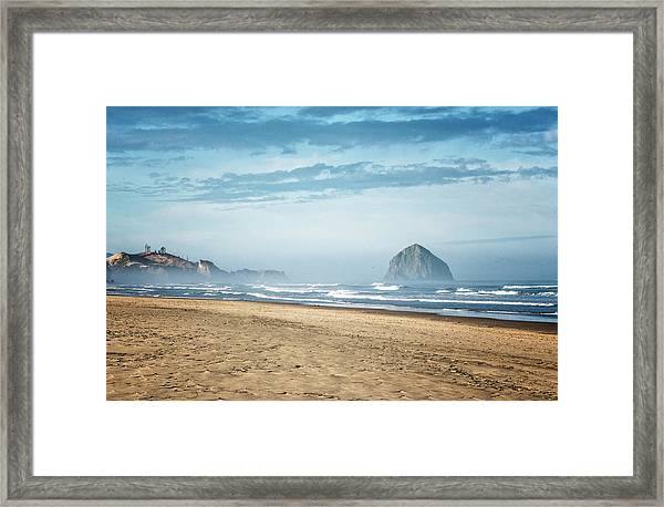 Haystack Rock Pacific City Framed Print