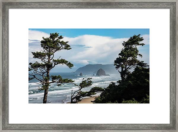 Haystack Views Framed Print