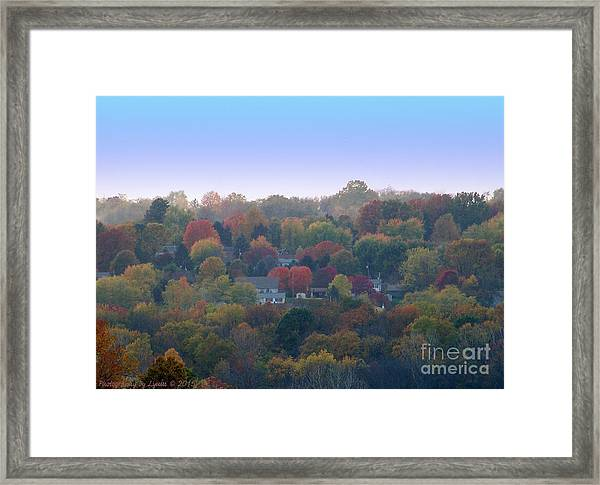 Hazy Autumn Framed Print