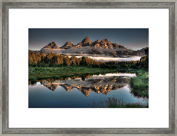 Hazy Reflections At Scwabacher Landing Framed Print