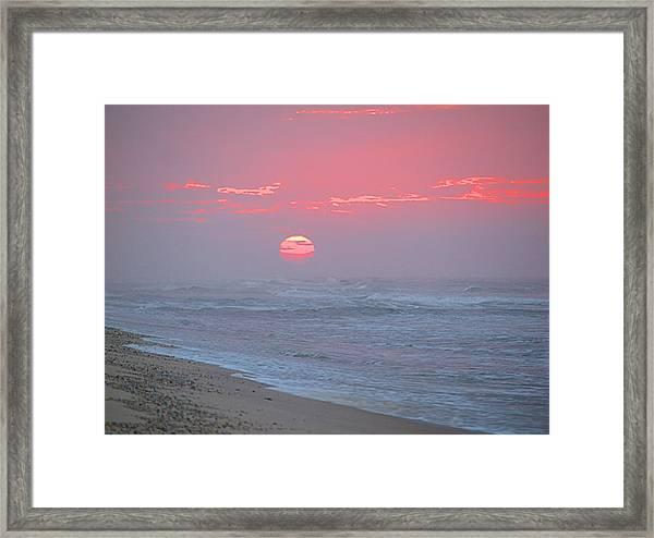 Hazy Sunrise I I Framed Print