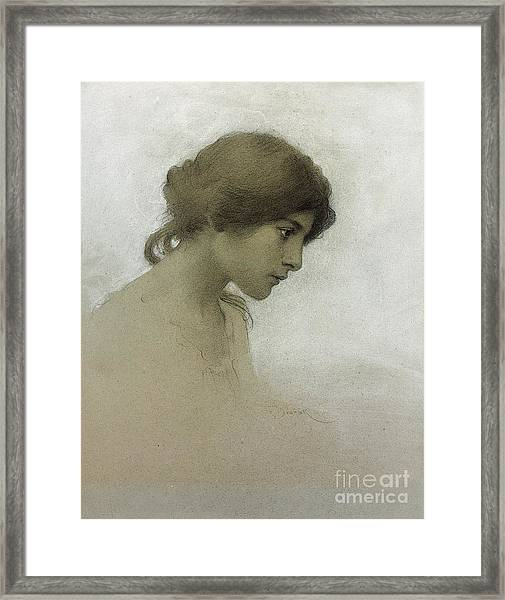 Head Of A Girl  Framed Print