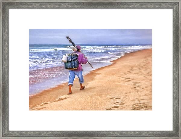 Heading Home - Ocean Fisherman Framed Print