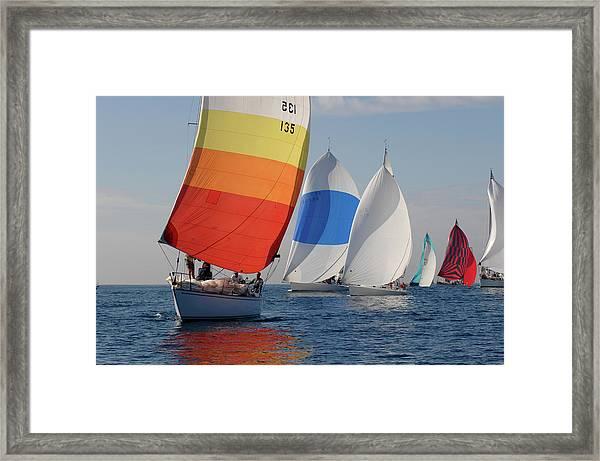 Heading Towind Windward Mark Framed Print