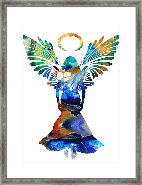 Healing Angel - Spiritual Art Painting Framed Print