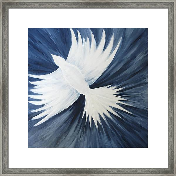 Healing On His Wings Framed Print
