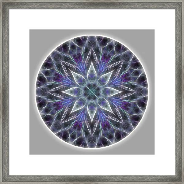 Framed Print featuring the digital art Health And Happiness Mandala by Beth Sawickie
