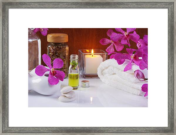 Health Spa Concepts  Framed Print