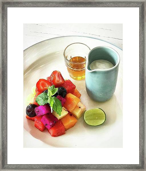 Healthy Breakfast, Fresh Seasonal Framed Print by Arya Swadharma