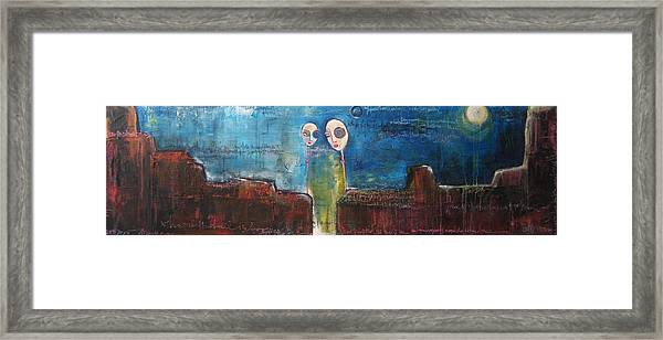 Framed Print featuring the painting Heart Beats The Same by Laurie Maves ART