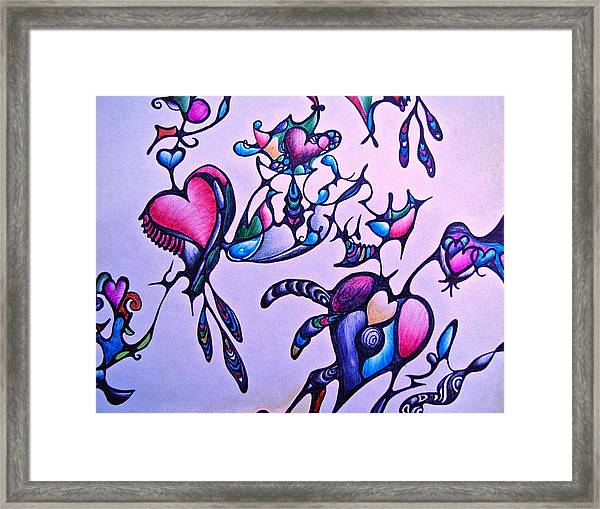 Heart Connections Framed Print