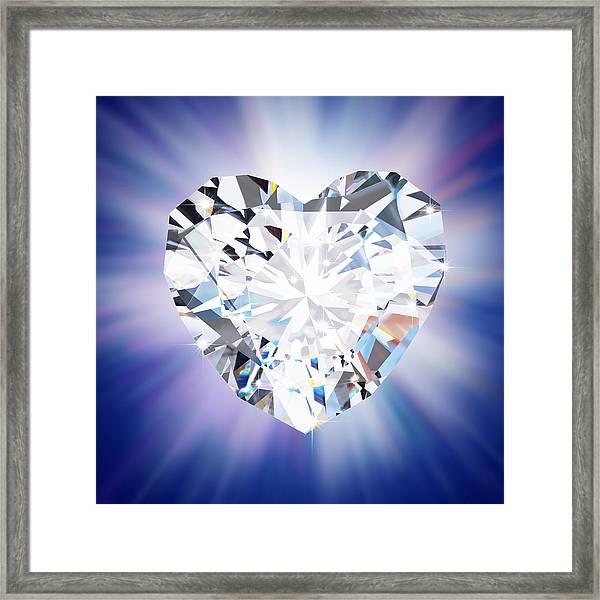 Heart Diamond Framed Print