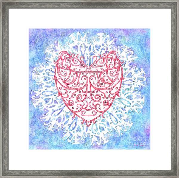 Heart In A Snowflake II Framed Print