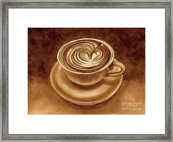 Heart Latte Framed Print