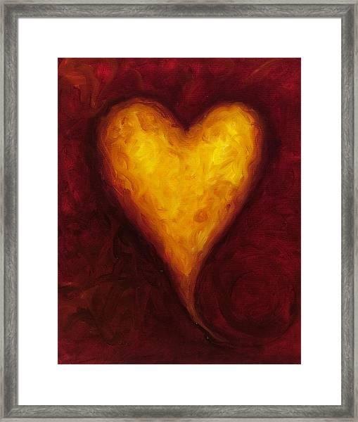 Heart Of Gold 1 Framed Print