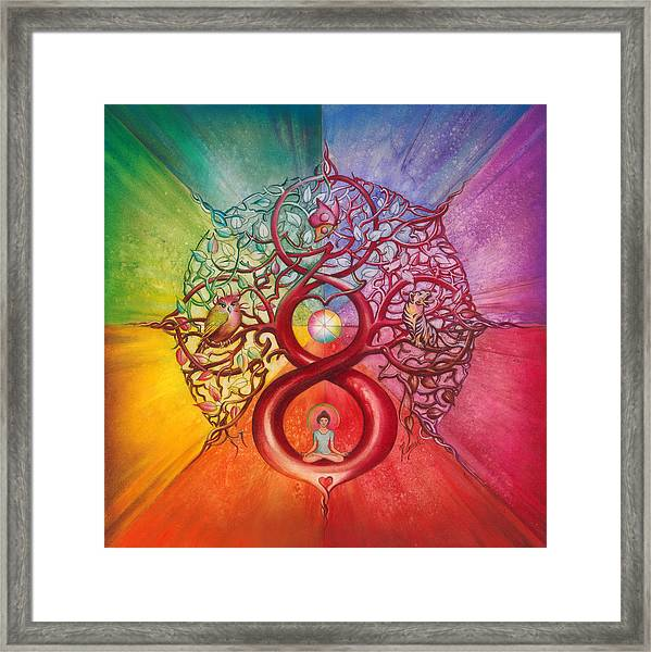 Heart Of Infinity Framed Print