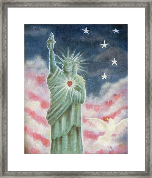 Heart Of Liberty Framed Print