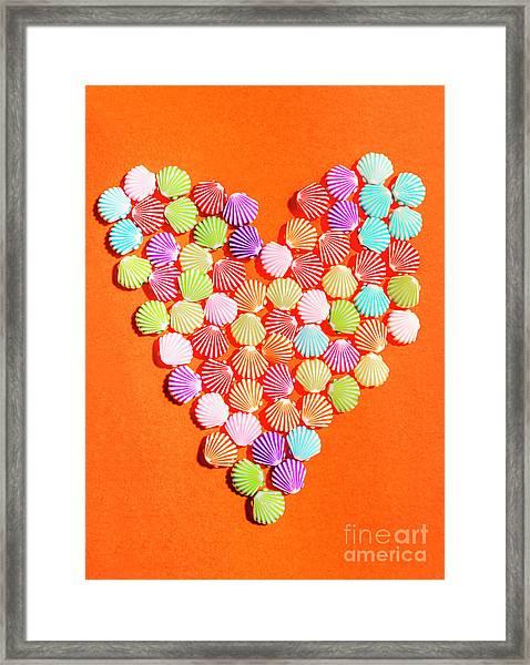 Heart Of Summer Romance Framed Print
