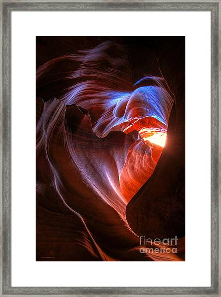 Heart Of The Navajo Framed Print