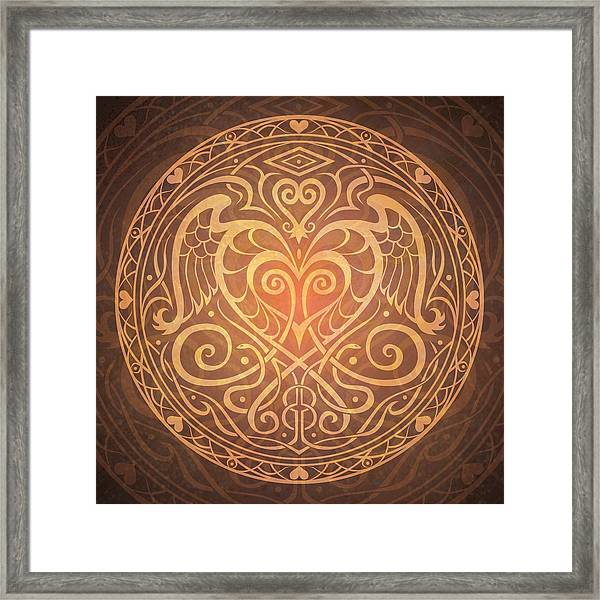 Heart Of Wisdom Mandala Framed Print
