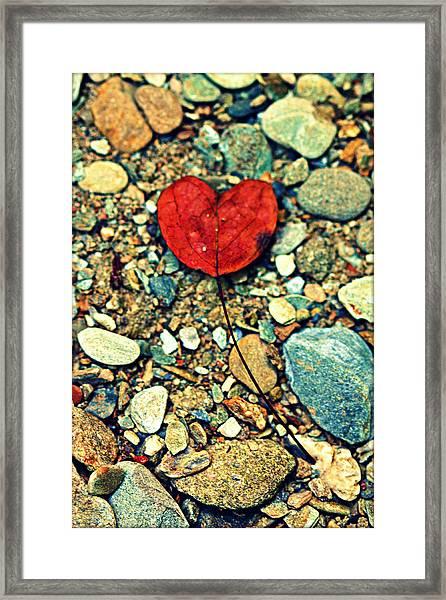 Heart On The Rocks Framed Print