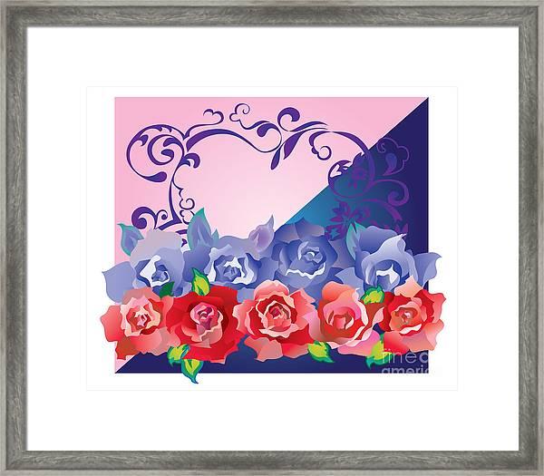 Heart Post Card Framed Print