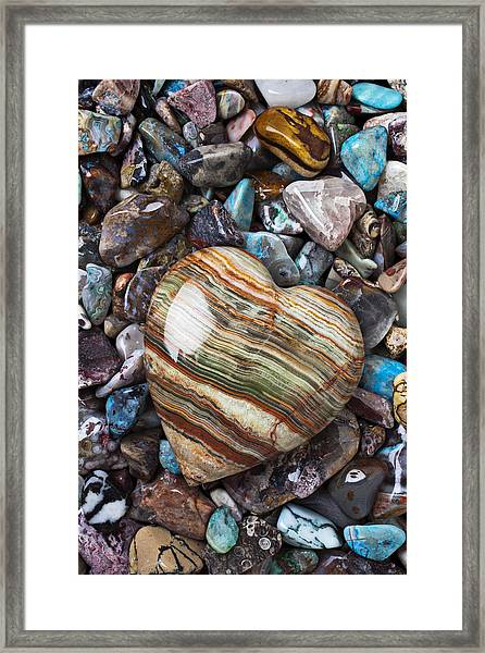 Heart Stone Framed Print