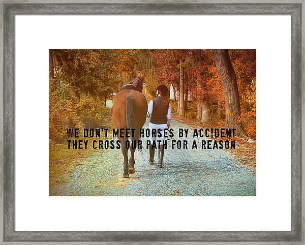 Heart To Heart Quote Framed Print