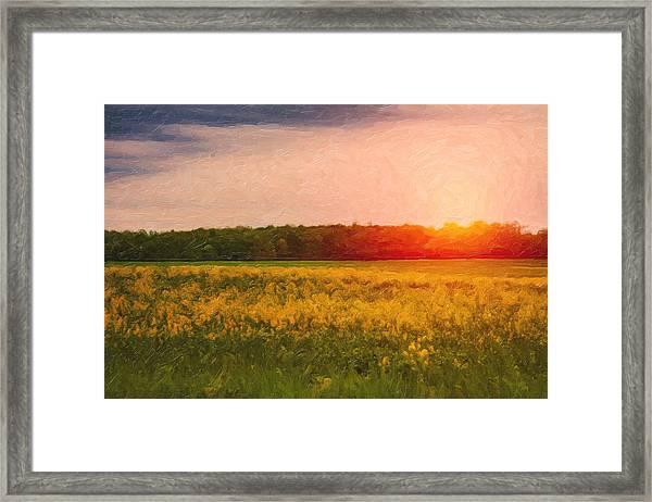 Heartland Glow Framed Print